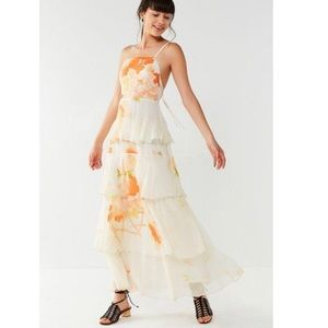 Urban Outfitters Women's Tiered Floral Maxi Dress